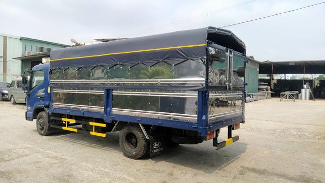 Thùng bạt xe tải Hyundai EX6 tải trọng 5 tấn