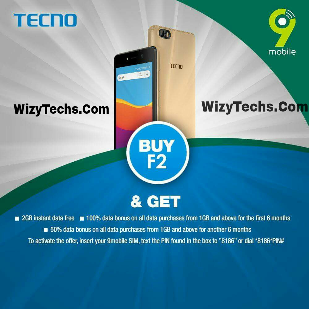 How To Get Free 2GB Data On Tecno F2 Via 9Mobile - WizyTechs