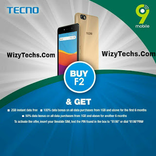 how to get free 2gb data on tecno f2