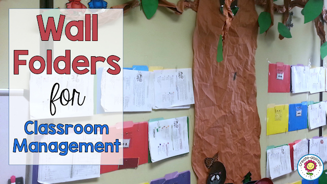 Wall Folders for Classroom Management