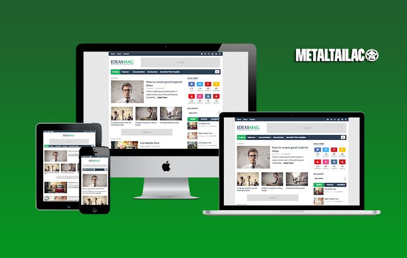 iDeas Mag Responsive Blogger Template Premium Version - Responsive Blogger Template