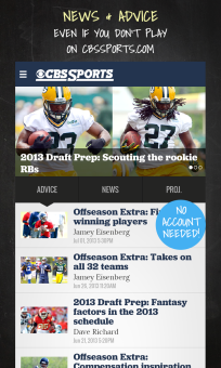 CBS Sports Fantasy Football for BlackBerry 10