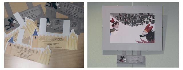 Carteles informativos diseñados para la exposición Segovia de Cuento