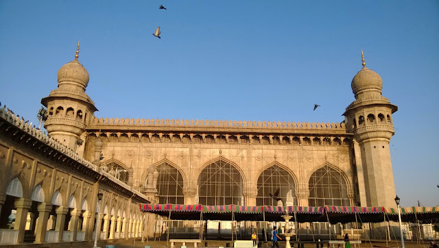 Full View of Mecca Masjid in Hyderabad, Telangana, India