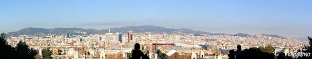 Vista Panoramica di Barcellona dal MNAC