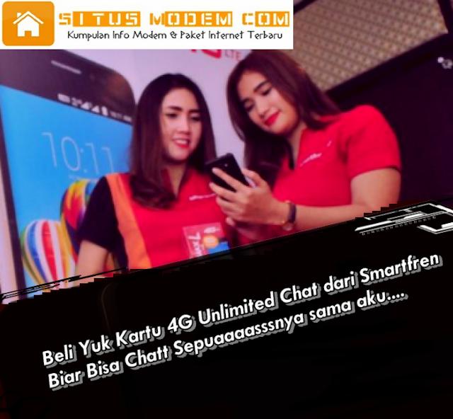 Ingin Bisa BBM, WhatsApp, LIne Unlimited ? Pakai Aja Kartu Perdana 4G Unlimted Chat Smartfren