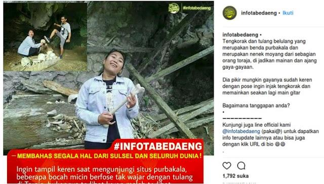 Wistawan Alay yang Melecehkan Makam Toraja Ditangkap!
