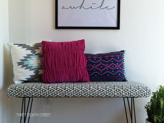 Diy Modern Hair Pin Bench Tutorial Cutting Plywood To Make A How