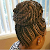 Ghana braids styled in to ponytail (braided updo with  photos )