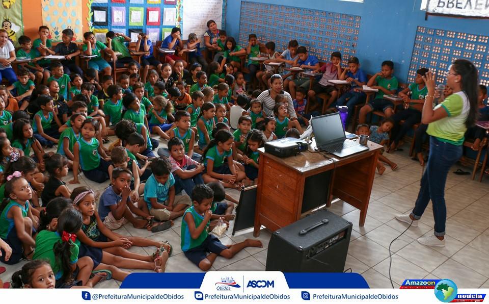 Iniciativa visa despertar boas práticas diante do meio ambiente nas escolas em Óbidos.