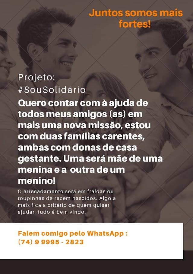 Seja solidário, projeto cujo objetivo é ajudar famílias carentes