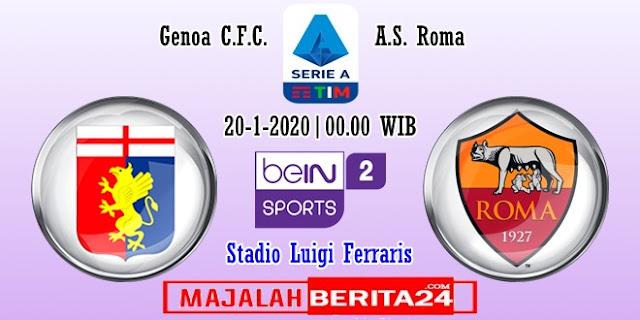 Prediksi Genoa vs AS Roma — 20 Januari 2020
