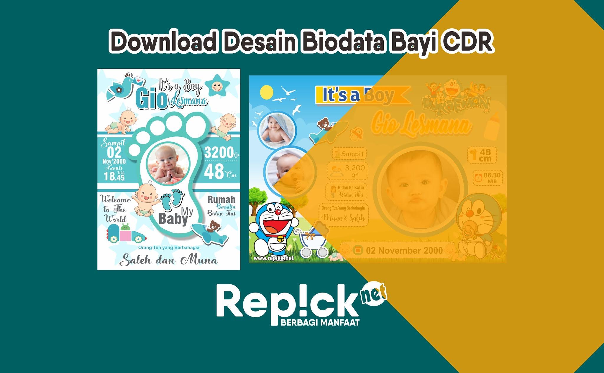 Desain biodata bayi cdr