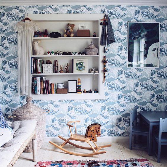 wallpaper in kids' rooms