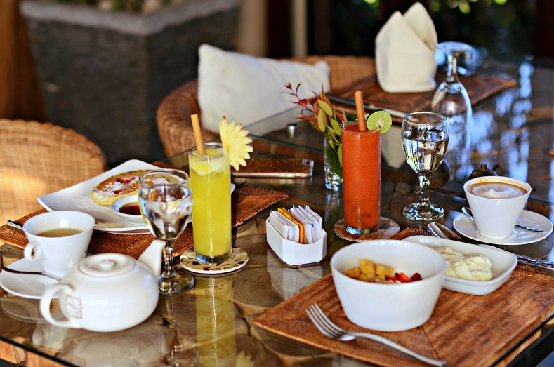 Breakfast, Safka Restaurant, The Griya Villas And Spa, Amed, Bali, Indonesia