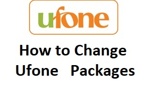 How to change Ufone packges easily