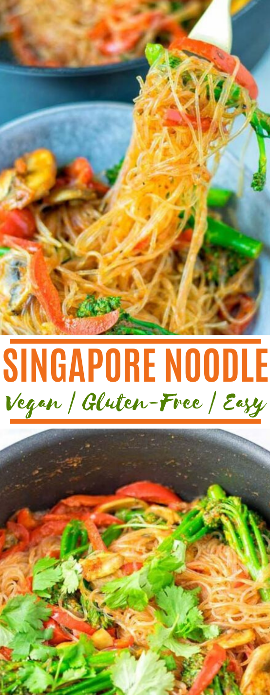 Singapore Noodles #vegan #recipes #glutenfree #lunch #dinner