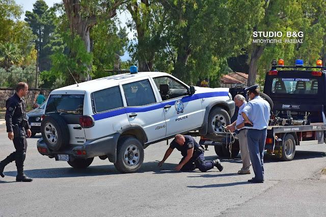 Τροχαίο ατύχημα με περιπολικό της αστυνομίας στο Ναύπλιο (βίντεο)