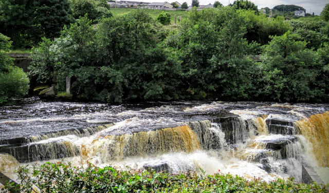Turbulent river rapids and waterfalls in County Sligo, Ireland
