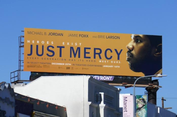 Just Mercy movie billboard