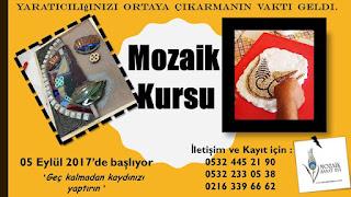 mozaik kursu kayıtları
