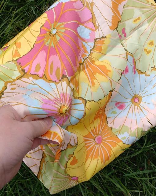 """108"""" sateen backing fabric by Kaffe Fassett, Lotus Leaf in Jade"""