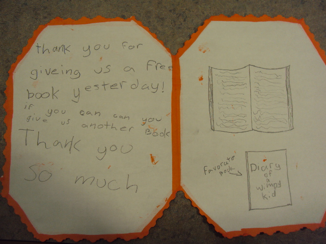 thank you notes  students write thank