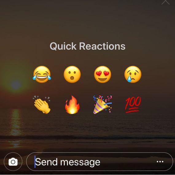 Emoji Reaksi Cepat Instagram