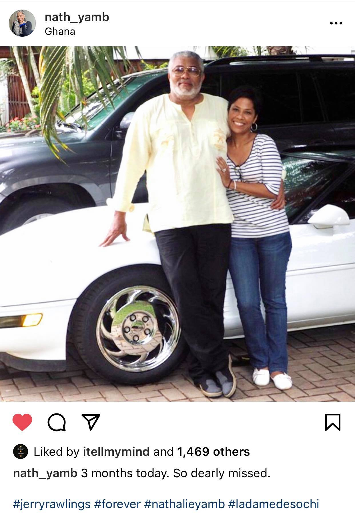 """rawlings%2Band%2Bsecond%2Bwife2 - """"I miss you so dearly"""" Nathalie Yamb says 3 months after the death of JJ Rawlings"""