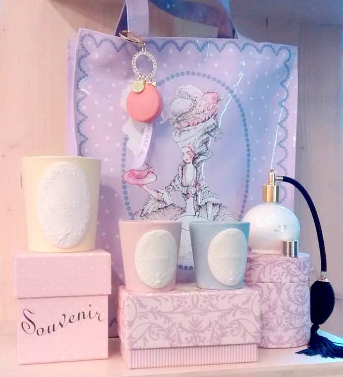 shopping bag and perfume ball ladurée