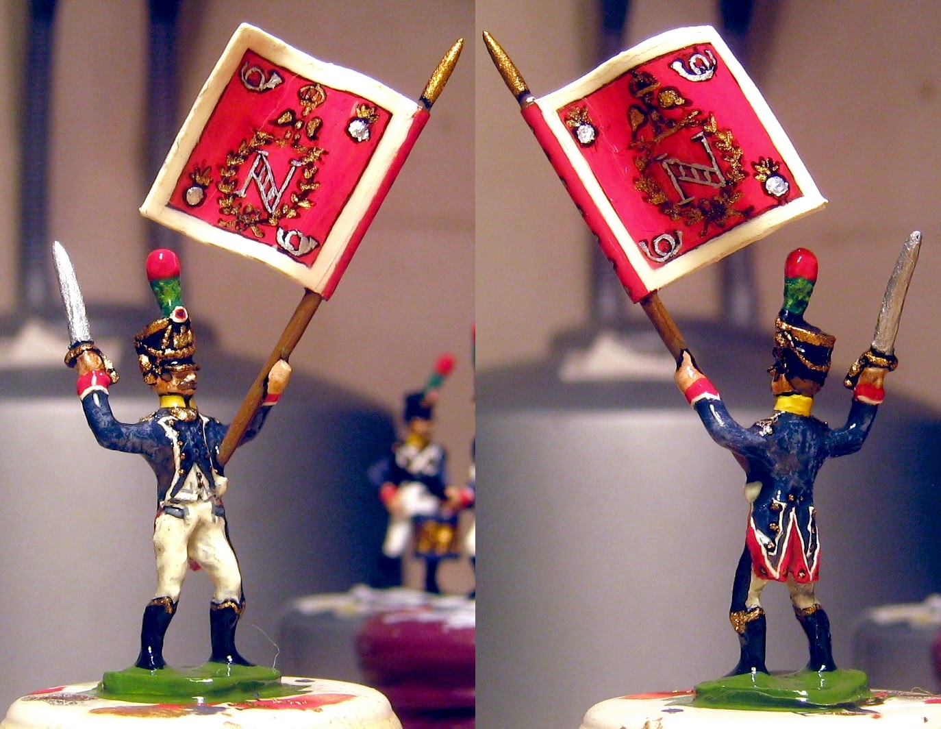 Hinton Hunt French Young Gaurd Voltigeurs Standard Bearer