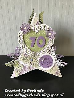 Created By Gerlinde Verjaardagskaart 70 Jaar Vrouw