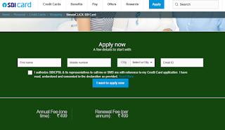 Click SBI Card, How to Apply SBI Credit Card Online