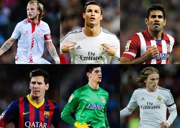 Daftar 11 Pemain Terbaik Liga Spanyol 2013-2014
