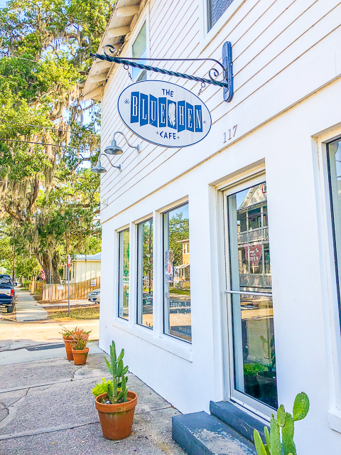 Outside Blue Hen Cafe - St Augustine FL
