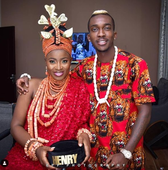Wedding photos of Super eagles Player,  Henry Onyekuru And Esty