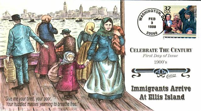 Immigrants Arrive - Ellis Island FDC