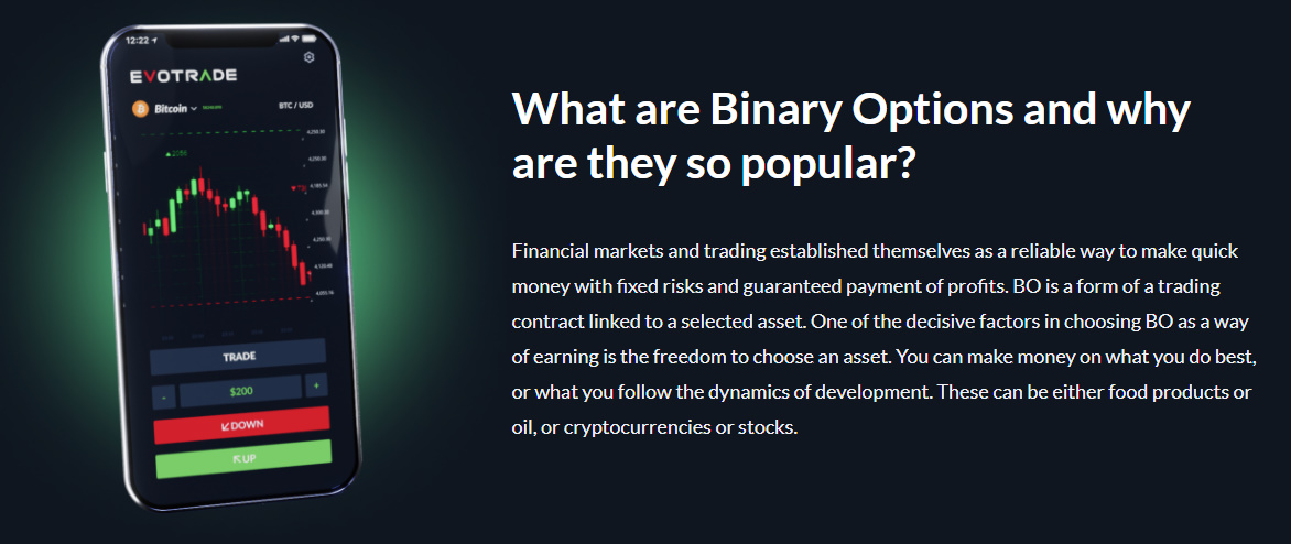 Binary Options from Evotrade