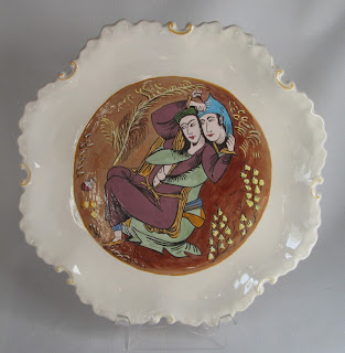 erotic lovers plate front view