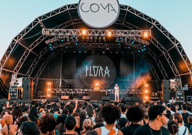 Show da cantora Flora Matos durante o Festival CoMA 2018, em Brasília — Foto: Festival CoMA/Divulgação