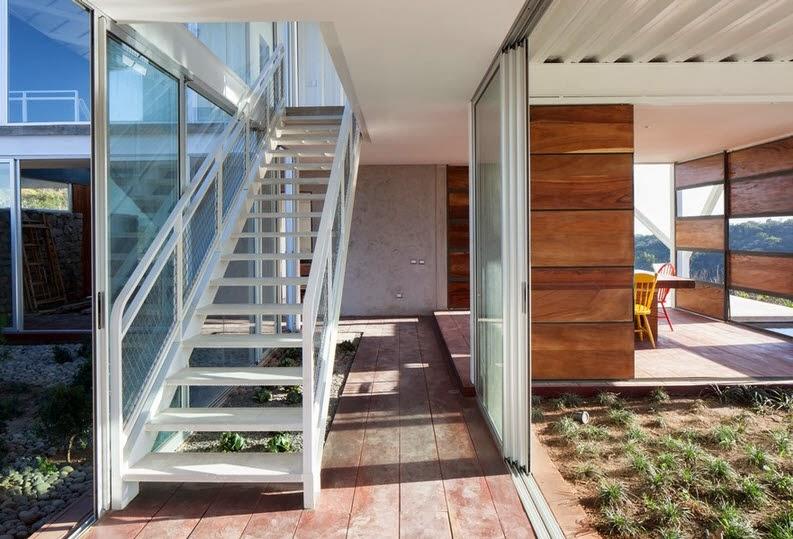 fachada y diseo de casa moderna en la colina estilo origami