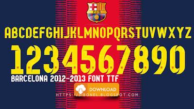 Barcelona 2012-2013 Font TTF