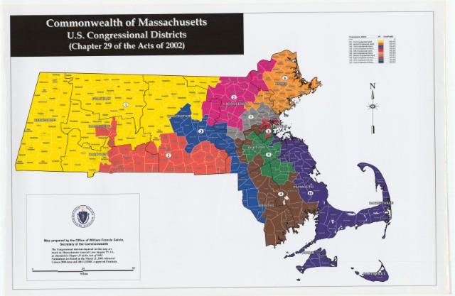 Massachusetts Redistricting Update – Olver (D, MA1) to ...