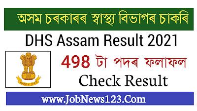DHS Assam Result 2021: