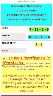 Pronostic quinté+ pmu samedi Paris-Turf TV-100 % 02/10/2021