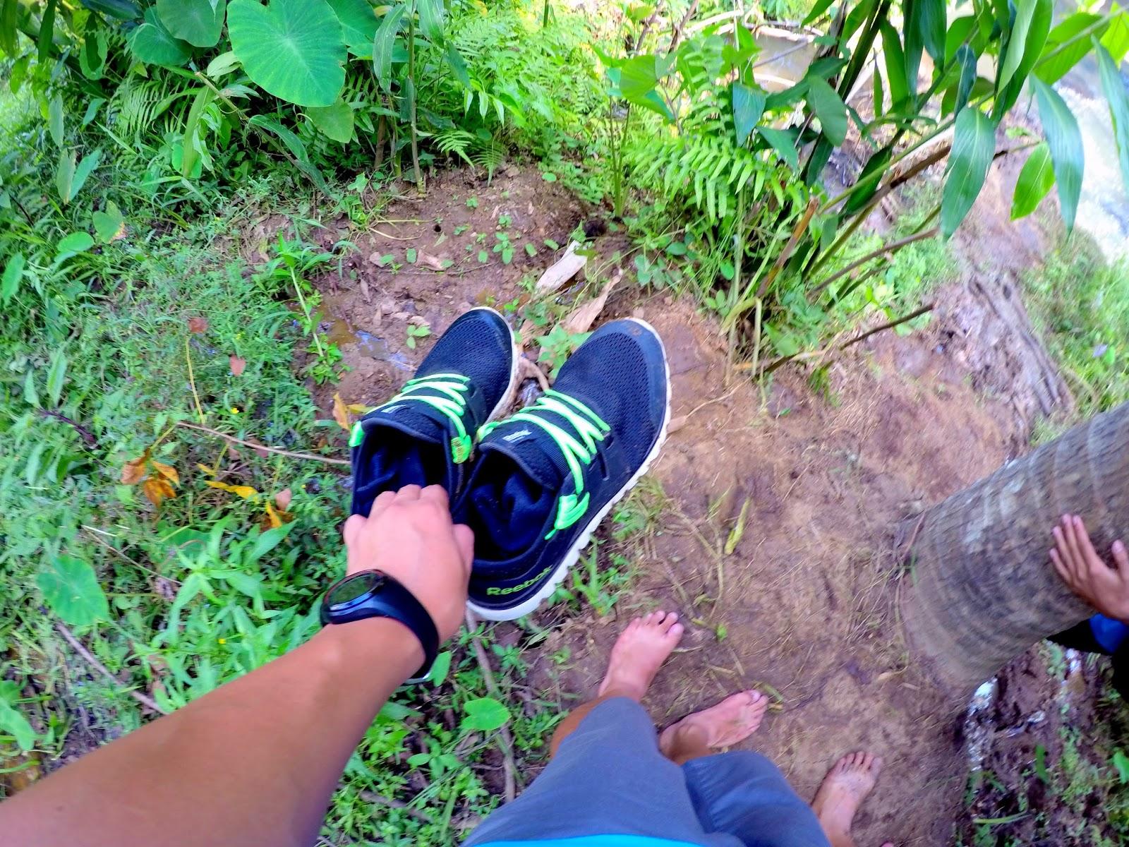 trekking hulugan falls