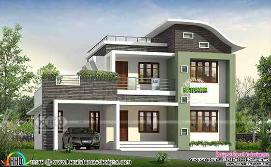 2188 square feet 2 BHK contemporary home