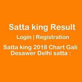 Delhi Satta Gaming: Satta king 2018 Chart Gali Desawer Delhi