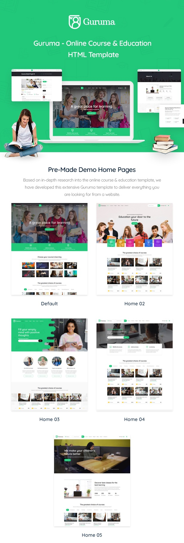 Online Course & Education HTML Template