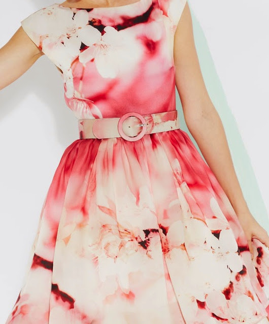 details: Alice + Olivia Spring/Summer 2013 pint floral print dress